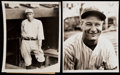 Baseball Collectibles:Photos, Lou Gehrig and Wally Pipp Type II Photographs Lot of 2....