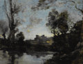 Fine Art - Painting, European:Antique  (Pre 1900), MAURICE LEVIS (French 1860-1940). Nightfall (Tombée de lanuit). Oil on canvas. 16 x 20-1/8 inches (40.6 x 51.1 cm).Sig...