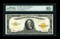 Large Size:Gold Certificates, Fr. 1173 $10 1922 Gold Certificate PMG Gem Uncirculated 65 EPQ....
