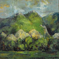 Texas:Early Texas Art - Modernists, ERIC GIBBERD (1897-1972). Big Horn Range. Oil on masonite.35-1/4 x 35-1/2 inches (89.5 x 90.2 cm). Signed and dated low...