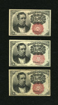 Fractional Currency:Fifth Issue, Fr. 1265 10¢, Fr. 1266 10¢ Two Examples Fifth Issue About New.... (Total: 3 notes)