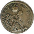 Colonials, (1670-75) FARTH St. Patrick Farthing VF20 PCGS....