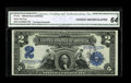 Large Size:Silver Certificates, Jas. Gilfillan Courtesy Autograph Fr. 253 $2 1899 Silver Certificate CGA Choice Uncirculated 64....
