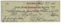 Autographs:Checks, 1951 Ed Barrow Signed Check. Ed Barrow was one of the mostinfluential managers and executives in the early baseball, guidi...