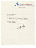 Autographs:Letters, 1977 Bill Veeck Signed Typed Letter. Quirky baseball executive BillVeeck was known just as much for his unorthodox ways as...
