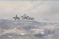 Texas:Early Texas Art - Regionalists, CARL SMITH (b. 1928). Untitled Riders in Blowing Snow. Oil on canvas. 24 x 36 inches (61.0 x 91.4 cm). Signed lower right. ...