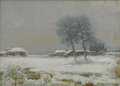 Texas:Early Texas Art - Impressionists, EDWARD EISENLOHR (1872-1961). Untitled Snow Scene. Oil onartistboard. 10 x 14 inches (25.4 x 35.6 cm). Signed lower right....