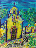 Texas:Early Texas Art - Modernists, DAHLIA WOODS (living). Mission Espada 1731, 2007. Acrylic oncanvas. 36 x 48 inches (91.4 x 121.9 cm). Signed lower righ...