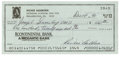 Autographs:Checks, 1990 Richie Ashburn Signed Check. This 1990 personal check came from the account of Richie Ashburn for dental work that he ...