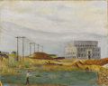 Texas:Early Texas Art - Regionalists, SHEPPERO (dec.). Untitled Power Plant and Dam, 1930s to1940s. Oil on artistboard. 11 x 14 inches (27.9 x 35.6 cm). Sign...