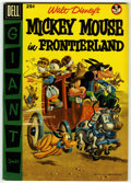 Golden Age (1938-1955):Funny Animal, Dell Giant Comics - Mickey Mouse in Frontier Land (Dell, 1956)Condition: VF+....