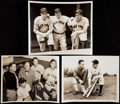 Baseball Collectibles:Photos, Joe DiMaggio and Lou Gehrig Type II Photographs Lot of 3. ...