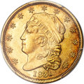 Early Quarter Eagles, 1831 $2 1/2 BD-1, R.4, AU58 PCGS. CAC....