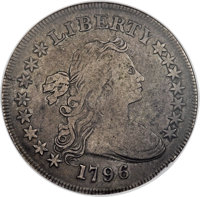 1796 $1 Large Date, Small Letters, B-5, BB-65, R.2, VF20 NGC....(PCGS# 40002)