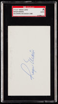 Autographs:Index Cards, Roger Maris Signed Index Card SGC Authentic. ...