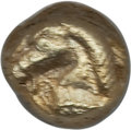Ancients:Greek, Ancients: IONIA. Uncertain City. Ca. 600-550 BC. EL 24th stater ormyshemihecte (6mm, 0.59 gm). NGC AU 4/5 - 4/5....