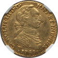 Colombia, Colombia: Charles III gold 2 Escudos 1765 NR-JV AU55 NGC,...