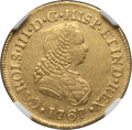 Colombia, Colombia: Charles III gold 2 Escudos 1767 PN-J AU55 NGC,...
