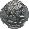 Ancients:Greek, Ancients: PTOLEMAIC EGYPT. Ptolemy VI Philometor (180-145 BC). ARtetradrachm (13.74 gm).  NGC AU 5/5 - 3/5....