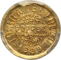 """Argentina, Argentina: Tierra del Fuego. Territory gold """"Popper"""" Gramo 1889 UNCDetail (Mount Removed) PCGS,..."""