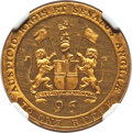 India:British India, India: British India. Madras Presidency gilt-copper Proof 1/96 Rupee 1797 PR64 Cameo NGC, ...