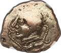 Ancients:Celtic, Ancients: NORTHERN GAUL. Pictones. Ca. 100-50 BC. EL stater (6.53gm). NGC Choice VF 3/5 - 2/5, scratches....