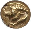 Ancients:Greek, Ancients: MYSIA. Cyzicus. Ca. 550-500 BC. EL 12th stater orhemihecte  (8mm, 1.34 gm). NGC XF 5/5 - 5/5....