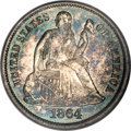 Proof Seated Dimes, 1864 10C PR66 Cameo PCGS....
