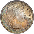 Barber Quarters, 1909-D 25C MS66 PCGS....