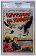 Golden Age (1938-1955):Science Fiction, Mystery in Space #7 (DC, 1952) CGC VF 8.0 Off-white to whitepages....