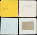 Autographs:Others, Baseball Greats Signed Cut Signature Lot of 4 - DiMaggio, Maglie,Hodges & Reynolds....
