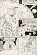 Original Comic Art:Panel Pages, Curt Swan and George Klein Superman #195 Story Page 11Krypto Original Art (DC, 1967)....