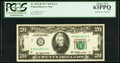 Error Notes:Doubled Face Printing, Fr. 2072-B $20 1977 Federal Reserve Note. PCGS Choice New 63PPQ.. ...