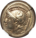 Ancients:Greek, Ancients: IONIA. Phocaea. Ca. 477-387 BC. EL sixth stater or hecte(2.56 gm). NGC Choice XF 5/5 - 5/5....