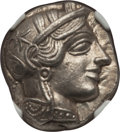 Ancients:Greek, Ancients: ATTICA. Athens. Ca. 454-404 BC. AR tetradrachm (17.14 gm). NGC AU 5/5 - 5/5....