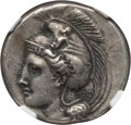 Ancients:Greek, Ancients: LUCANIA. Velia. Ca. 340-280 BC. AR stater (7.63gm).NGC Choice XF 4/5 - 4/5, Fine Style....