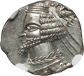 Ancients:Oriental, Ancients: PARTHIAN KINGDOM. Phraates IV (ca. 38-2 BC). AR drachm (3.99 gm). NGC Choice MS ★ 5/5 - 5/5....