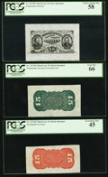 Fractional Currency:Third Issue, Fr. 1274SP 15¢ Third Issue Wide Margin Set PCGS Graded.. ... (Total: 3 notes)