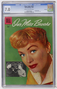 Four Color #751 Our Miss Brooks - File Copy (Dell, 1956) CGC FN/VF 7.0 Cream to off-white pages