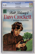 Golden Age (1938-1955):Adventure, Four Color #631 Davy Crockett (Dell, 1955) CGC VF 8.0 Cream to off-white pages....