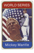 Autographs:Letters, Mickey Mantle Single Signed Ceramic Card. In 1986 SportsImpressions distributed this special ceramic card. The card isnu...