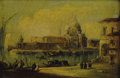 19th Century European, Manner of FRANCESCO GUARDI (Italian, 1712-1793). A view of theGrand Canal with Santa Maria della Salute, Early 19th cen...