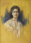 Fine Art - Painting, American:Modern  (1900 1949)  , GARI MELCHERS (American 1860-1932). Study of a Lady inWhite. Pastel on canvas. 28-3/4 x 21-1/4 inches (73.2 x 54.0cm)...