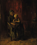 Paintings, JACOB SIMON HENDRIK KEVER (Dutch 1854-1922). Mother and Child, 19th century. Oil on canvas. 21-3/4 x 18 inches (55.2 x 4...