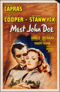 "Movie Posters:Drama, Meet John Doe (Warner Brothers, R-1945). One Sheet (27"" X 41""). Drama.. ..."