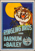 "Movie Posters:Miscellaneous, Ringling Brothers and Barnum & Bailey Circus (1942). Poster (28"" X 41.5""). Miscellaneous.. ..."