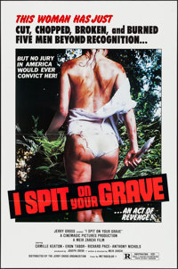 "I Spit on Your Grave (Jerry Gross, R-1980). One Sheet (27"" X 41""). Horror. Alternate Title: Day of the Woman..."