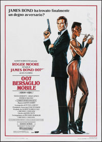 "A View to a Kill (United Artists, 1985). Italian 2 - Fogli (39.25"" X 55""). James Bond"