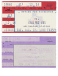 Baseball Collectibles:Tickets, Nolan Ryan Career Milestone Ticket Stubs Lot of 2. The exceptionalcareer of Nolan Ryan was highlighted by numerous accompli...