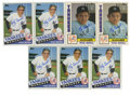 Autographs:Checks, Yogi Berra Signed Trading Cards Group Lot of 7. Seven signed YogiBerra cards from his mid-1980s stretch as skipper of the ...